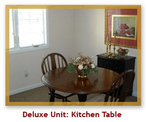 Deluxe Unit Kitchen Table