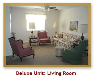 Deluxe Unit Living Room