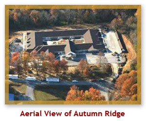 Aerial View of Autumn Ridge